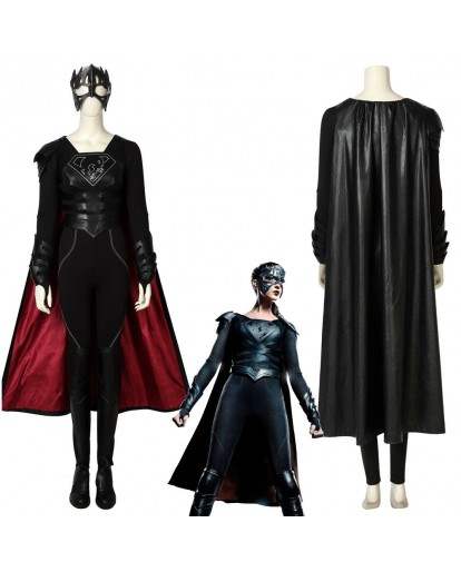 Supergirl Season 3 Reign Samantha Arias Cosplay Costume Female Halloween Outfit