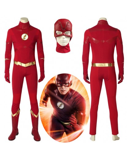 The Flash Season 5 Barry Allen Flash Cosplay Costume Carnival Halloween Costumes