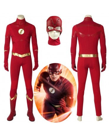 The Flash Season 4 Barry Allen Flash Cosplay Costume Carnival Halloween Costumes
