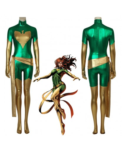 X-men Phoenix Jean Grey Costume 3D Cosplay Zentai Superhero Suit Halloween