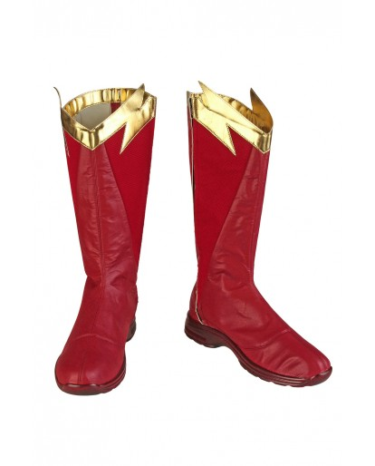 The Flash Season 5 Barry Allen Flash Cosplay Boots
