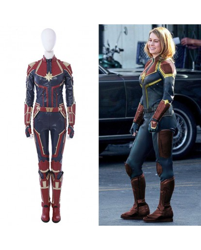 Ms.Marvel Captain Marvel Carol Cosplay Costume Halloween Costume