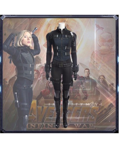 The Avengers 3 Black Widow Cosplay Costume Natasha Romanoff Fashion Suit Props