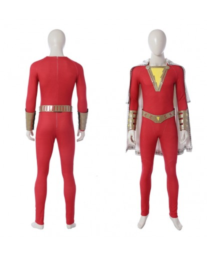 Captain Marvel Shazam William Billy Batson Cosplay Costume Halloween Costume
