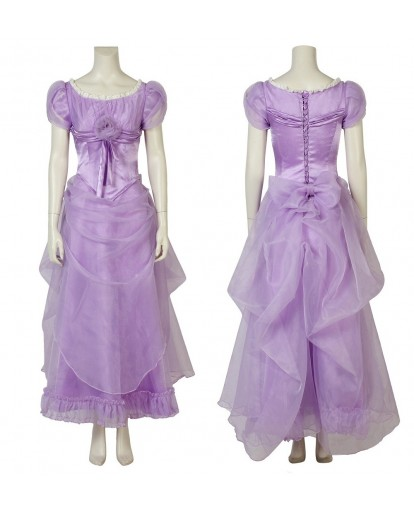 The Nutcracker And The Four Realms Clara purple Dress Outfit Cosplay Costume
