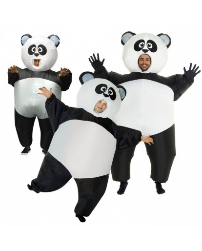 Inflatable Animal Mascot Panda Costume Adult Blow Up Animal Sumo Fat Halloween Costume