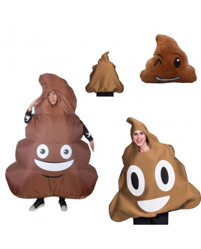 Inflatable Big Poop Clothing Funny Costume Halloween costume Christmas Fat Guy Costume