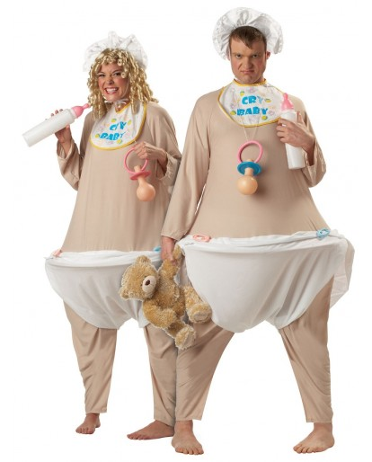 Cry Baby Infant Bodysuit Stag Do Night Role Play Funny Fat Womens Mens Costume