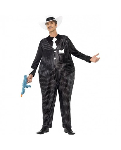 1920s Gangster Costume Adult Funny Fat Tony Halloween Costume