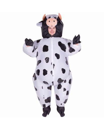 Inflatable Cow Costume Fat Guy Costume Blow Up Suit for Halloween Birthday Party