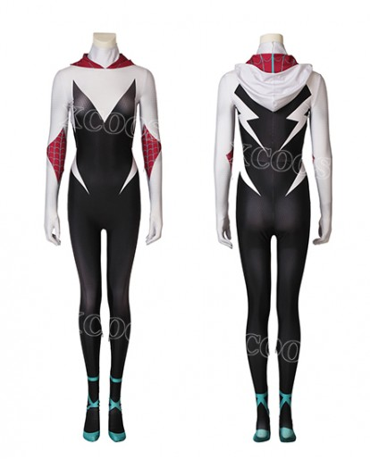 Gwen Stacy Spider-Gwen Spider-Man Jumpsuit Cosplay Costume 3D Print Zentai Womens Costume