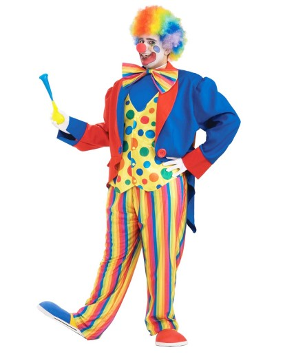 Plus Size The Clown Costume Fancy Dress Halloween Costume Fat Guy Cosplay Dress