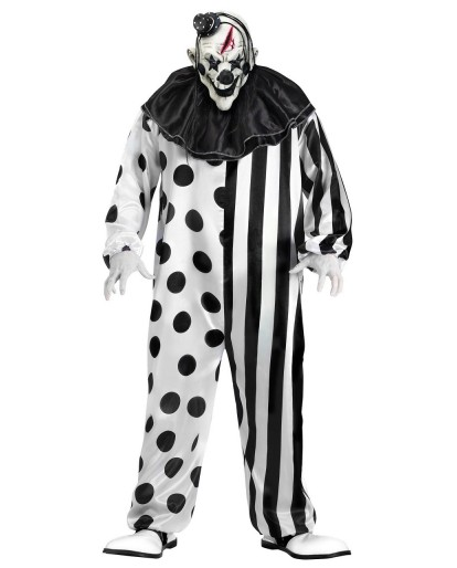 Evil Killer Clown Costume Adult Scary Fancy Dress Fat Guy Halloween Costume