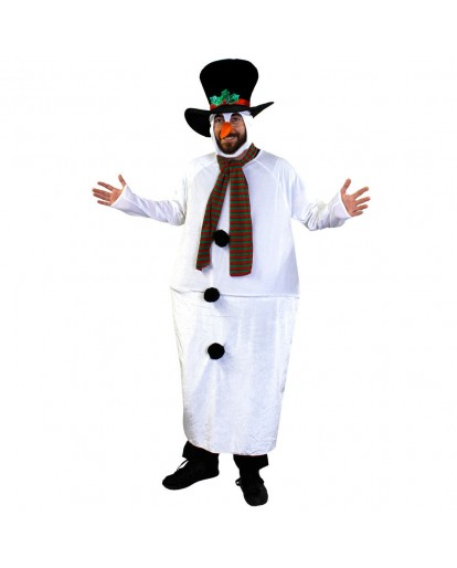 Snowman Christmas Fancy Dress Costume Party Funny Suit Fat Guy Costume