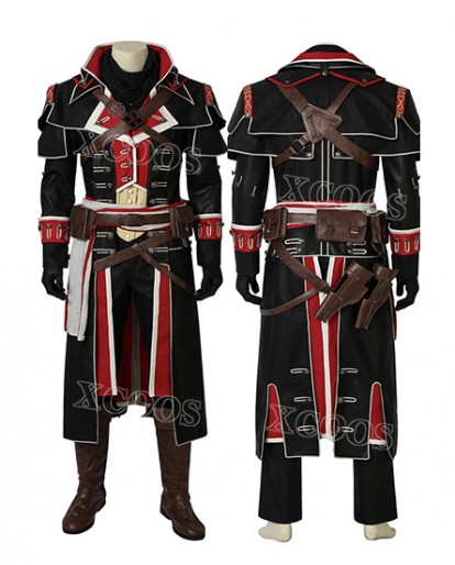 Assassin's Creed:Rogue Cosplay Shay Patrick Cormac Costume Halloween Outfit Suit