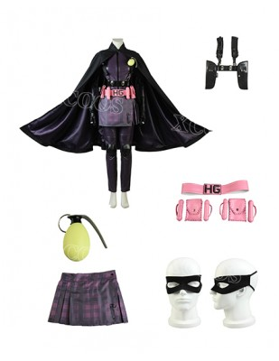 New arrival Kick Ass Costume Hit Girl Cosplay Fashion Cartoon Comic Con Outfit