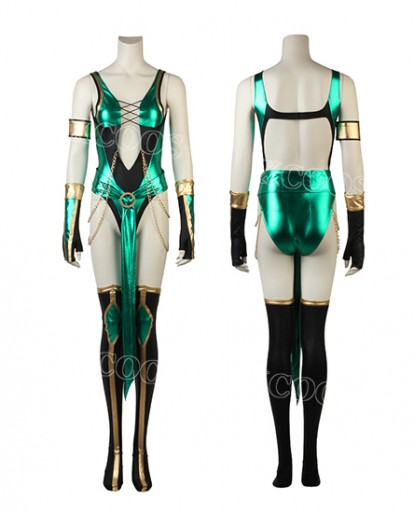 Mortal Kombat X Jade Cosplay Costume Adult Women Halloween Outfit Full Suit