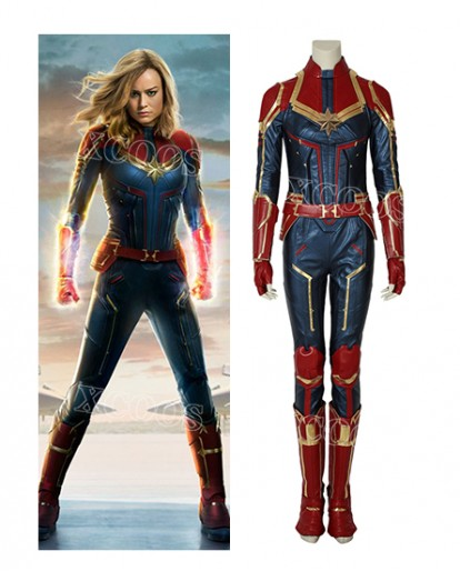 Ms.Marvel Captain Marvel Carol Cosplay Costume Jumpsuit Halloween Costume