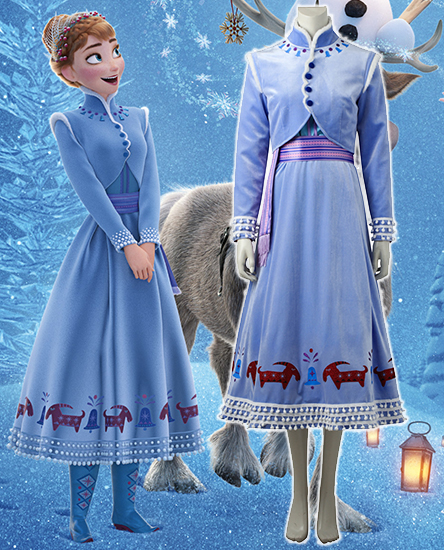 If i could cosplay 10 roles of disney movie olafs frozen adventure you could imagine yourself in the role of anna when wearing this deluxe costume inspired by olafs frozen adventure beautifully detailed with glitter solutioingenieria Image collections