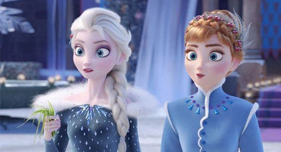 Twincesses show Olafs frozen adventure Anna & Elsa Cosplay look