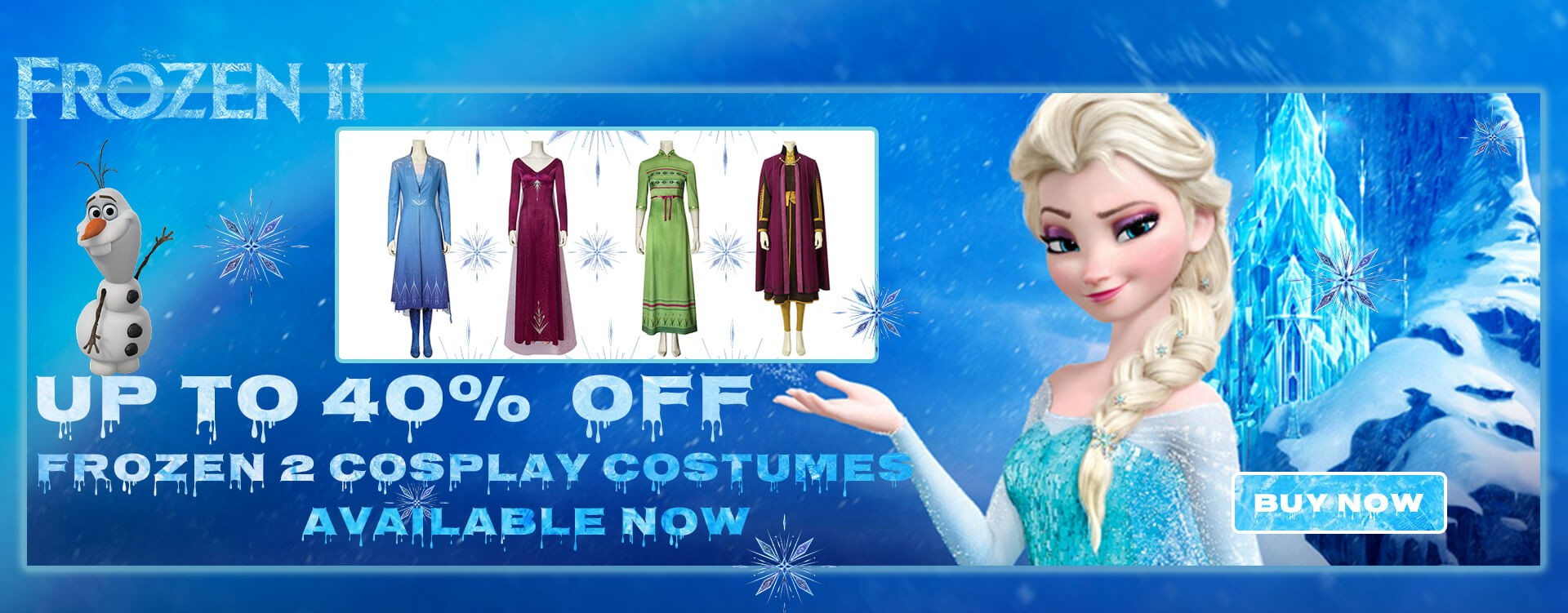Frozen 2 Cosplay Costumes Availble Now UP to 40% OFF
