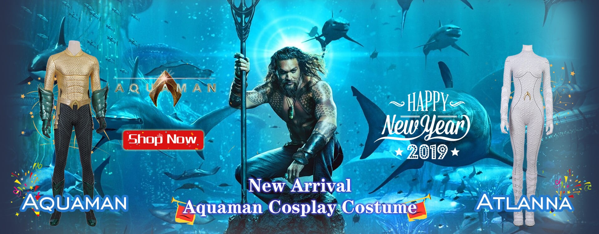 New Arrival Aquaman Cosplay Costume, Pick up your favorite one.