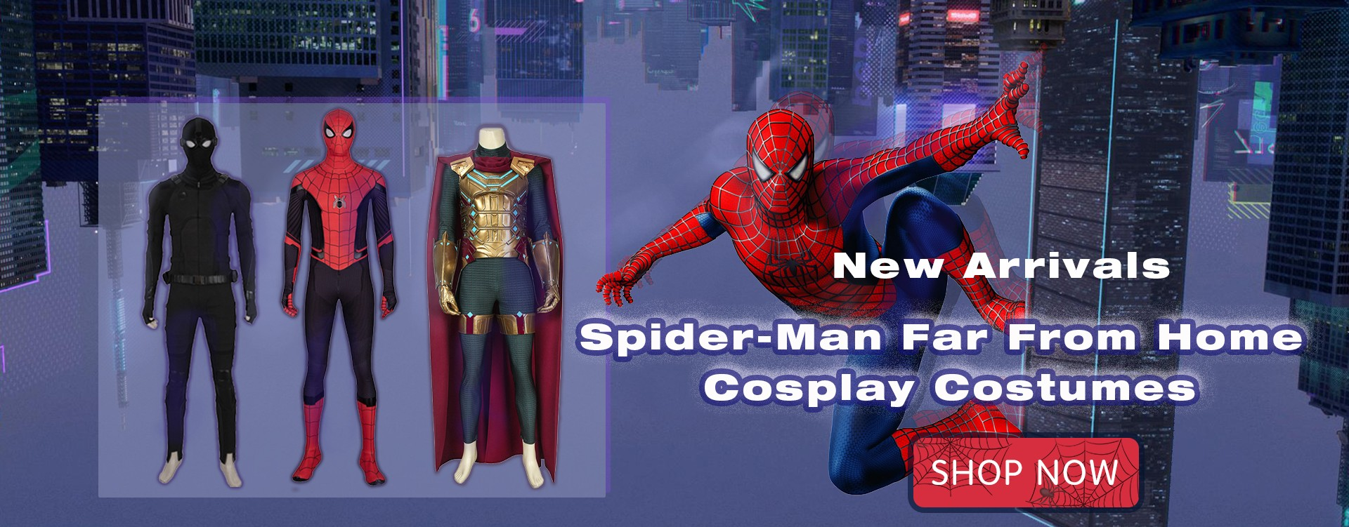 New Arrivals Spider-Man Far From Home Cosplay Costumes