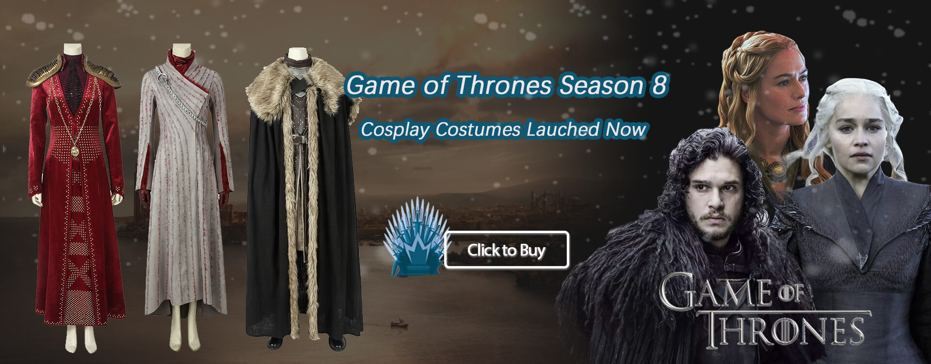 Game of Thrones Season 8 Cosplay Costumes Lauched Now