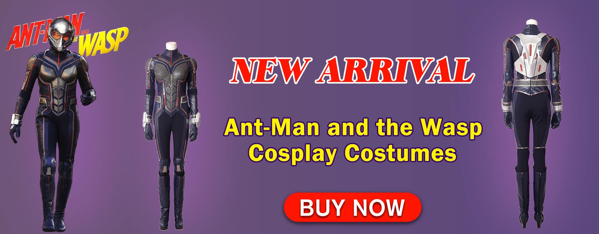 The latest Ant-Man and the Wasp Cosplay Costumes is available on xcoos.Buy now !