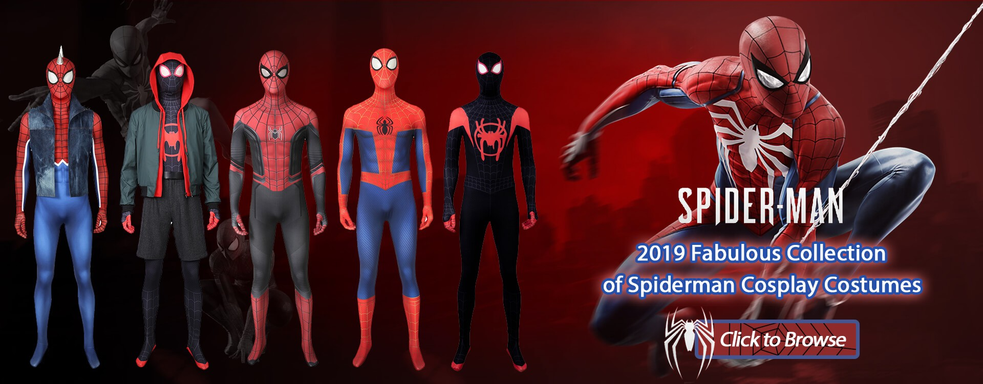 2019 Fabulous Collection of Spiderman Cosplay Costumes