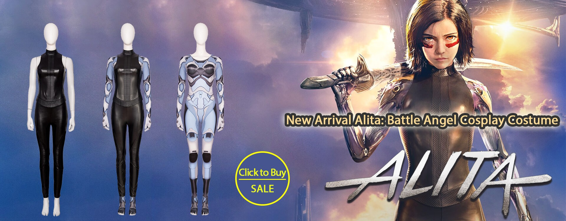 New Arrival Alita: Battle Angel Cosplay Costume