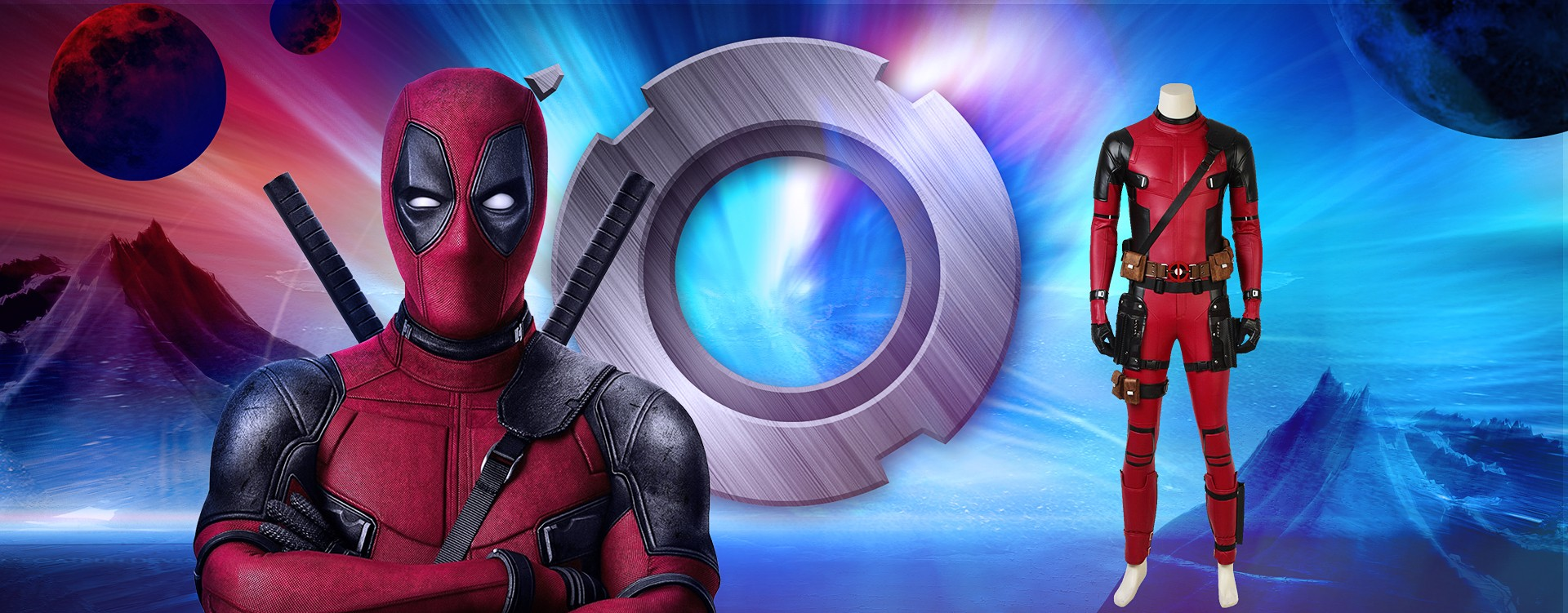 Get ready to be a bad guy, bring home this X-Men Deadpool Wade Cosplay Costume!